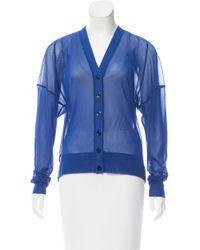 Jean Paul Gaultier | Blue Semi-sheer V-neck Cardigan W/ Tags | Lyst