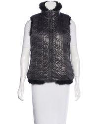Marc By Marc Jacobs | Natural Marc By Jacobs Reversible Faux-fur Vest Black | Lyst