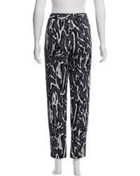 Proenza Schouler - Gray High-rise Straight-leg Pants Black - Lyst