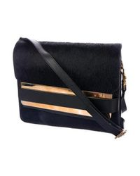 Sophie Hulme - Metallic Ponyhair Crossbody Bag Blue - Lyst