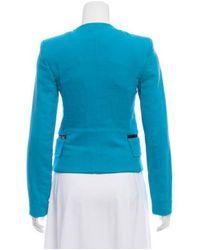 Emilio Pucci - Blue Structured Collarless Blazer Turquoise - Lyst