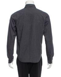 Rag & Bone - Gray Woven Button-up Shirt for Men - Lyst