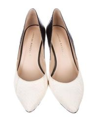 Loeffler Randall - White Snakeskin Bi-color Pumps - Lyst
