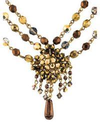 Erickson Beamon - Metallic Beaded Choker Necklace Gold - Lyst