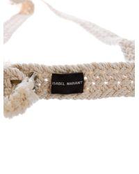 Étoile Isabel Marant - Natural Woven Waist Belt Beige - Lyst