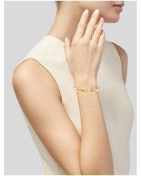 Kate Spade - Metallic Enamel Skinny Bow Bracelet Gold - Lyst