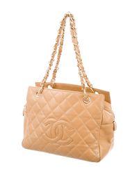 Chanel - Metallic Petite Timeless Tote Tan - Lyst