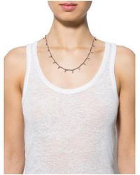 A.L.C. - Metallic Mini Shark Tooth Necklace Rose - Lyst