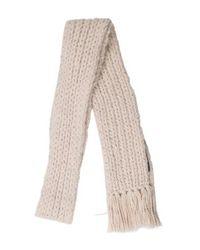Marc Jacobs - Natural Wool Fringe-trimmed Scarf Beige - Lyst