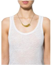 Alexis Bittar - Metallic Crystal & Lucite Pendant Necklace Gold - Lyst