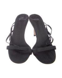 John Galliano - Black Leather Multistrap Sandals - Lyst
