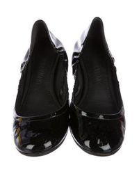 Vera Wang - Black Patent Leather Ballet Flats - Lyst