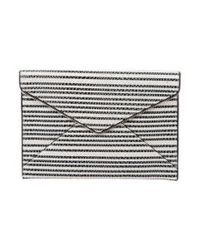 Rebecca Minkoff - Black Striped Leo Clutch - Lyst