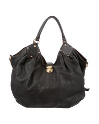 Louis Vuitton | Black Mahina Xl Hobo | Lyst