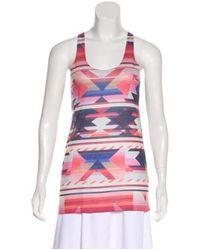 Torn By Ronny Kobo - Red Sleeveless Printed Top - Lyst