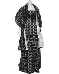 Carolina Herrera - Black Strapless Lace Gown - Lyst