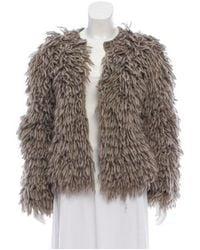 Michael Kors - Brown Fringe Knit Jacket - Lyst