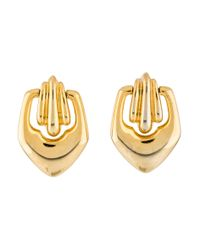 Givenchy - Metallic Vintage Drop Earrings Gold - Lyst