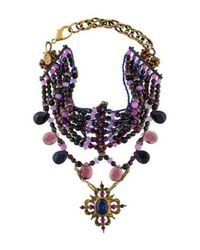 Erickson Beamon - Metallic Anna Sui Crystal & Quartzite Multistrand Necklace Gold - Lyst