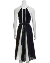 Martin Grant - Blue Belted Midi Dress Navy - Lyst