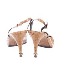 Chanel - Metallic Cap-toe Cc Pumps Tan - Lyst