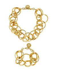 Elie Saab - Metallic Parure Necklace & Bracelet Set Gold - Lyst