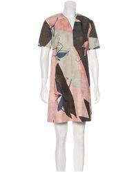 Piazza Sempione - Pink A-line Printed Dress - Lyst
