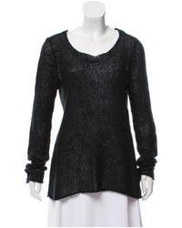 MICHAEL Michael Kors - Black Michael Kors Open-knit Long Sleeve Sweater - Lyst