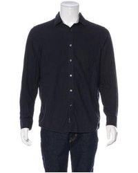 Michael Kors - Blue Knit Woven Shirt for Men - Lyst