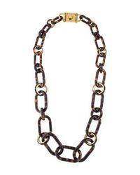 Michael Kors - Metallic Resin Link Necklace Gold - Lyst