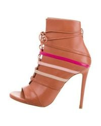 Ruthie Davis - Courtney Peep-toe Ankle Boots W/ Tags Multicolor - Lyst