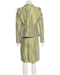 Akris - Green Silk Knee-length Skirt Suit Chartreuse - Lyst