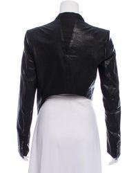 Helmut Lang - Black Asymmetrical Leather Jacket - Lyst