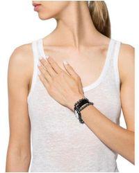 Erickson Beamon - Black Multistrand Crystal Bracelet - Lyst