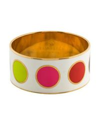 Kate Spade - Metallic Enamel Bangle Gold - Lyst