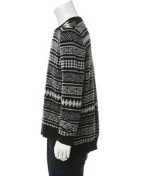 Givenchy - Gray Wool Fair Isle Knit Sweater Black for Men - Lyst