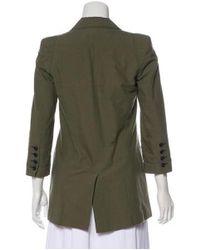 Elizabeth and James - Green Notched-lapel Long Sleeve Jacket - Lyst