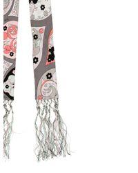 Emilio Pucci - Gray Printed Silk Scarf Grey - Lyst