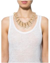 Nakamol - Metallic Crystal Bead Multistrand Collar Necklace Silver - Lyst