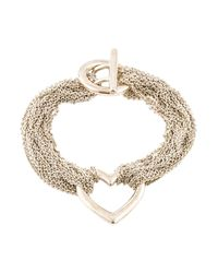 Tiffany & Co - Metallic Mesh Heart Bracelet Silver - Lyst