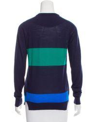 Proenza Schouler - Blue Striped Wool Sweater Navy - Lyst