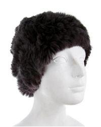 Glamourpuss - Gray Knitted Fur Beanie W/ Tags - Lyst