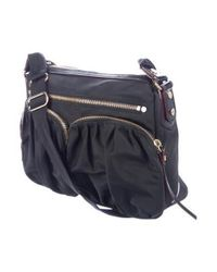MZ Wallace - Metallic Leather-trimmed Nylon Satchel Black - Lyst