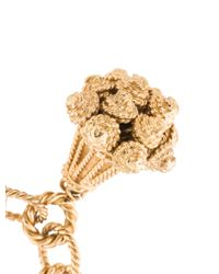 Loewe - Metallic Charm Bracelet Gold - Lyst