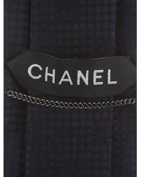 Chanel - Blue Cc Logo Silk Tie for Men - Lyst