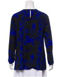 Proenza Schouler - Purple Silk Printed Top Indigo - Lyst