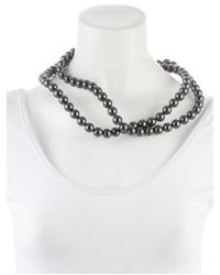Stella McCartney - Metallic Faux Pearl Double Strand Necklace Gold - Lyst