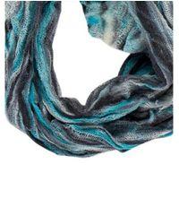 Raquel Allegra - Blue Printed Knit Scarf - Lyst