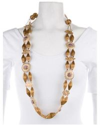 Erickson Beamon - Metallic Dyed Chalcedony Station Necklace Gold - Lyst