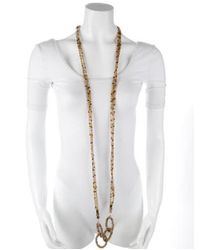 Erickson Beamon - Metallic Multistrand Beaded Necklace Gold - Lyst
